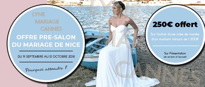 Cheque-cadeau Pre-salon - Lyne Mariage Cannes