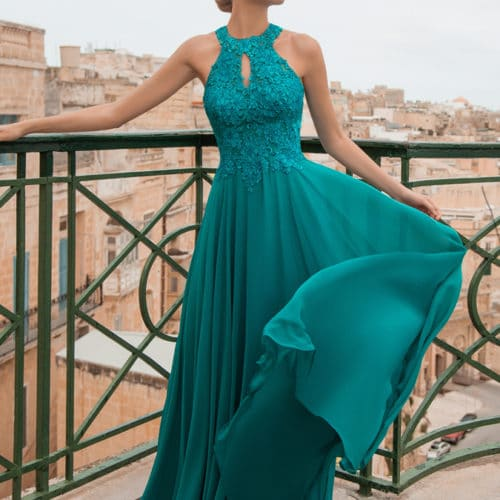 Robe de cocktail Turquoise
