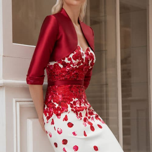 Robe de cocktail Rouge Ecru